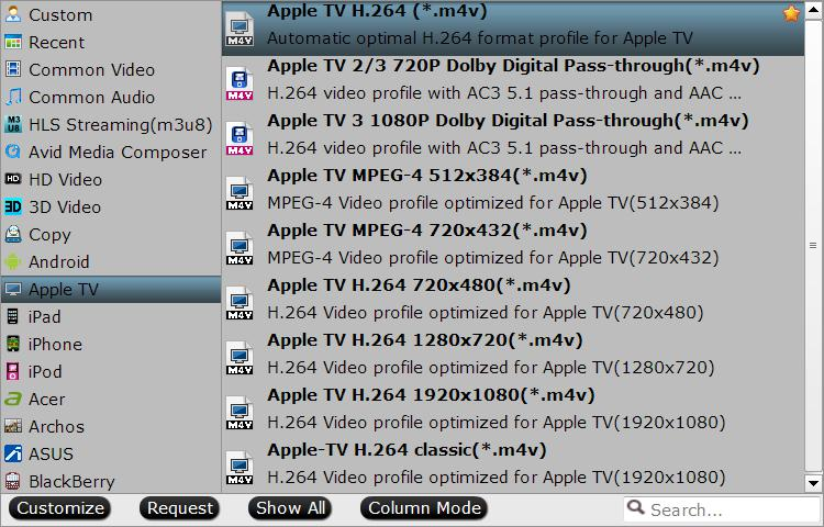 choose Apple TV