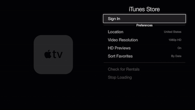 Set up iTunes store account