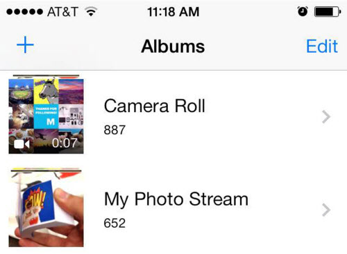 camera roll vs photo stream