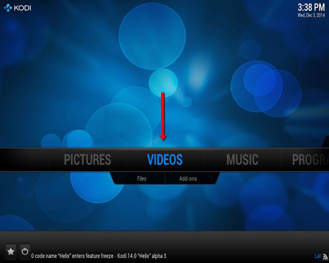Click files under video tab