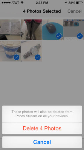 Delete photos from photo stream