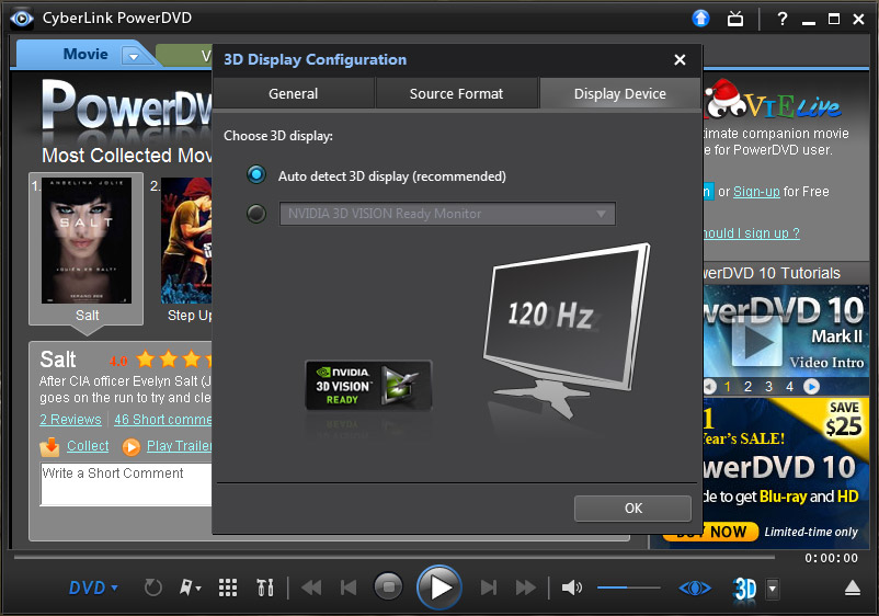 How to Play 3D Blu-ray Disc Movies on 3D TV Via PowerDVD 14?