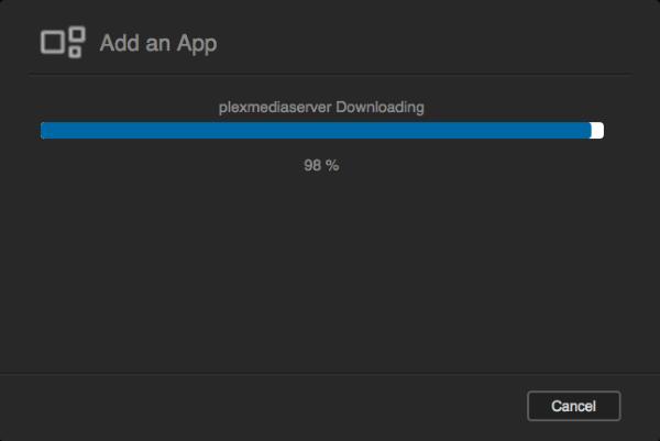 Plex installing process