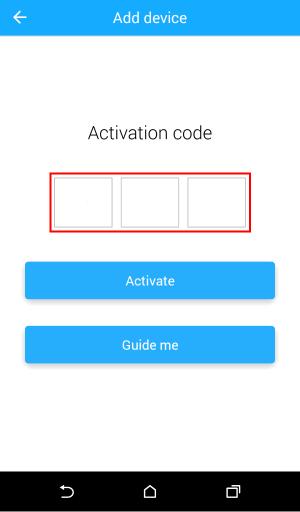 Input activation code