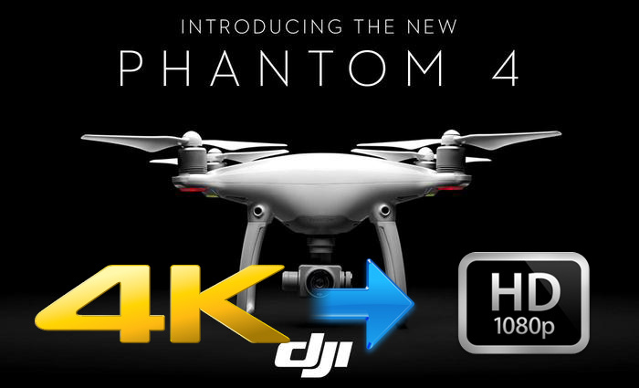 Compress DJI Phantom 4 4K to 1080p