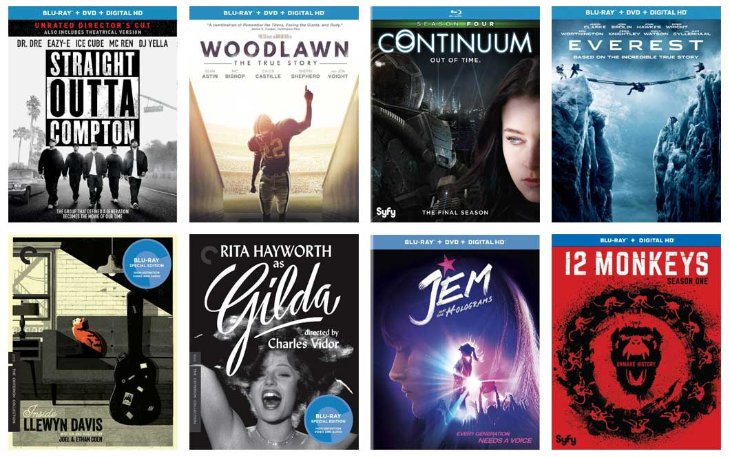 2016 new Blu-ray movies