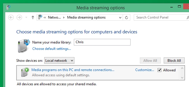 Access files over the network with Roku Media Player app