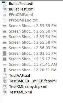 Import AAF, EDL, XML