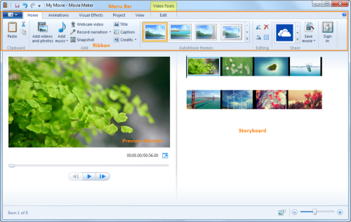 windows movie maker supported file formats