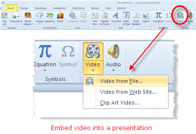 Add Local Video to Powerpoint