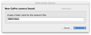Give a folder name to the GoPro camera files