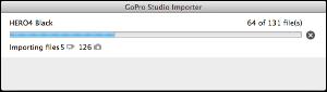 GoPro Studio begin importing process