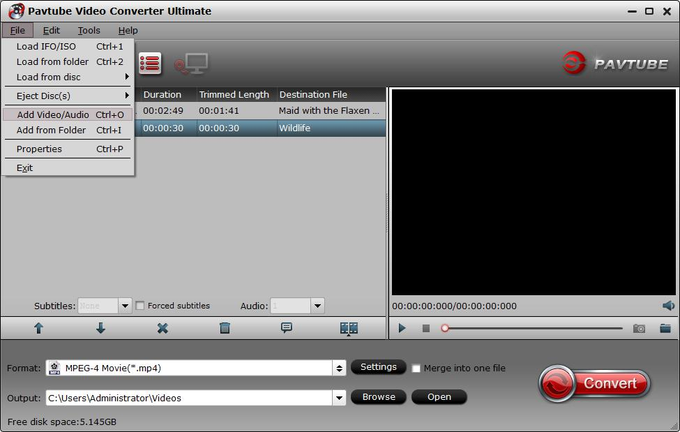 load video and audio files