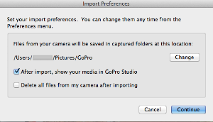 Set import preference