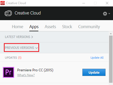 Update to Premiere Pro CC 2015.2