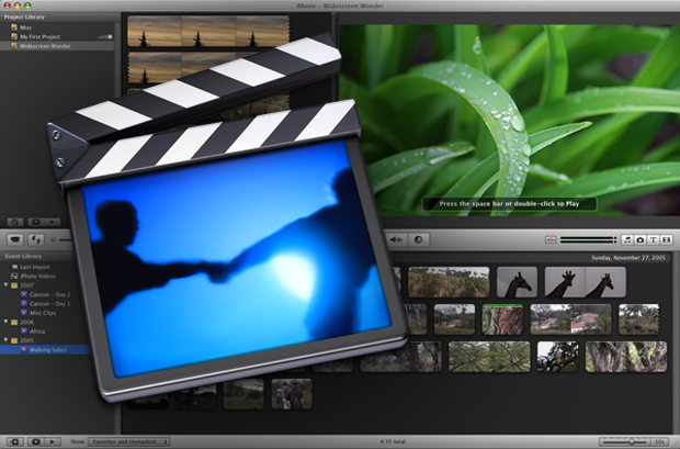 iMovie import AVI files