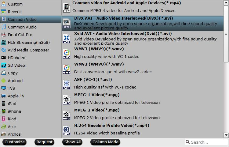 Output GOM Player supported file formats