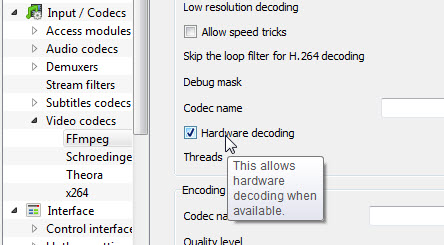 Hardware decoding