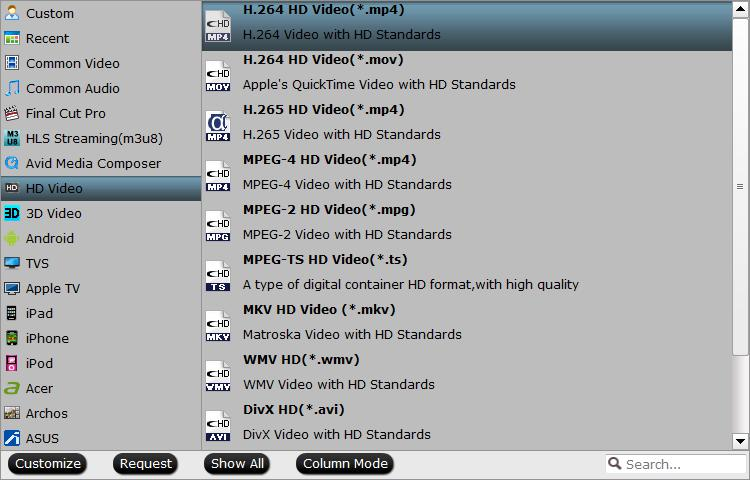 Output Plex Media Server supported file formats