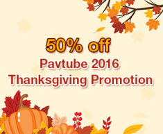 Pavtube 2016 Thanksgiving Promotion
