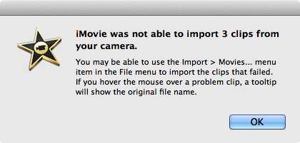 Import MPEG-2 to iMovie