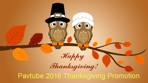 Pavtube 2016 Thanksgiving Promotion - Up to 50% off Blu-ray/DVD/Video Package Tool