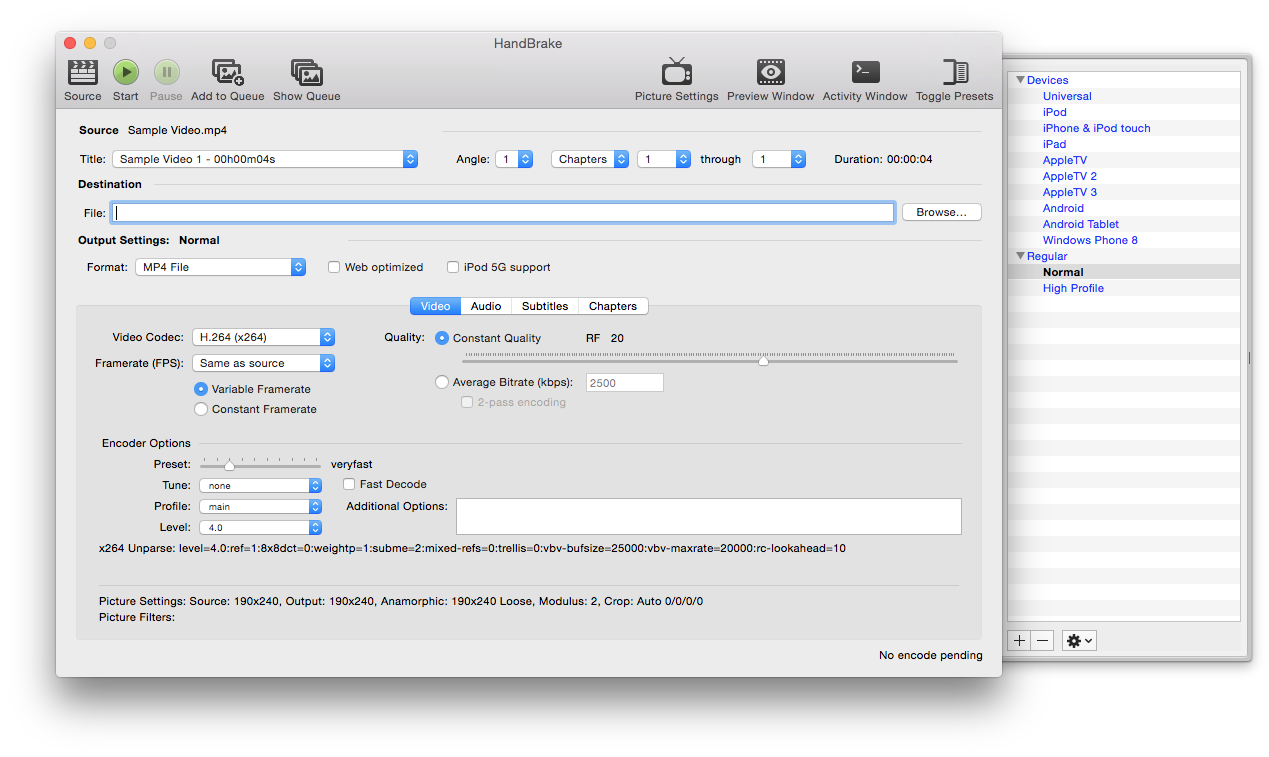 Handbrake for Mac