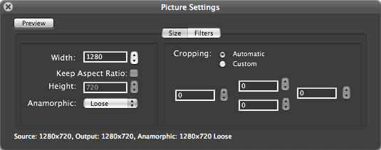 Adjust picture settings