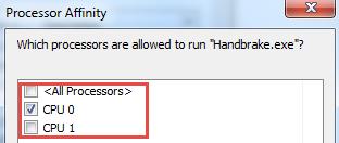 Less cpu usage in windows