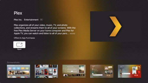 Stream MP4 to Apple TV via Plex