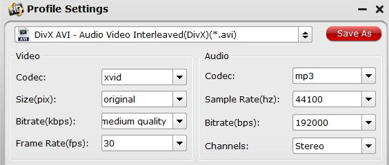 Adjust output profile settings