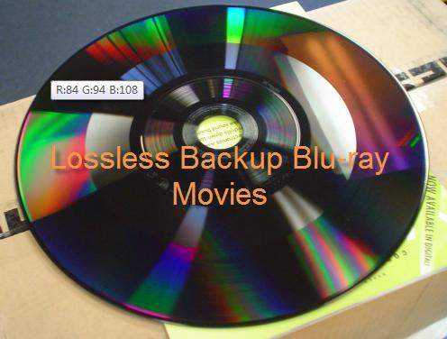 Lossless backup Blu-ray movies