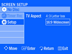 Set video source in TV Picture Settings
