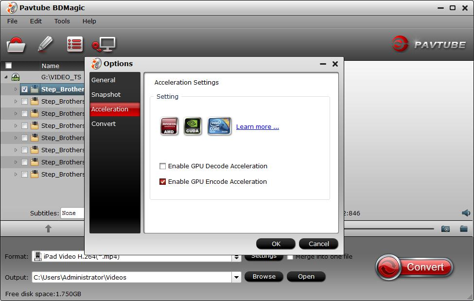 Enable H.265 GPU encode acceleration349