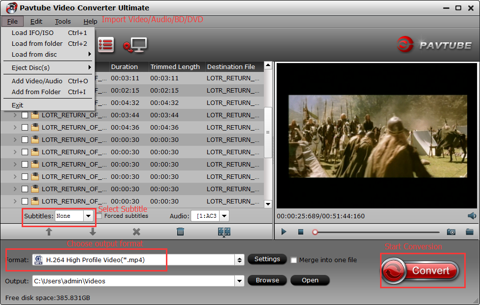 Pavtube Video Converter Ultimate Interface