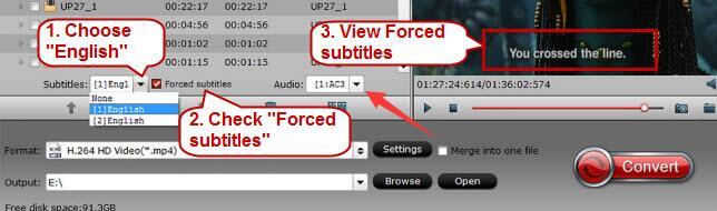 subtitle settings