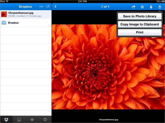 add video to ipad with dropbox