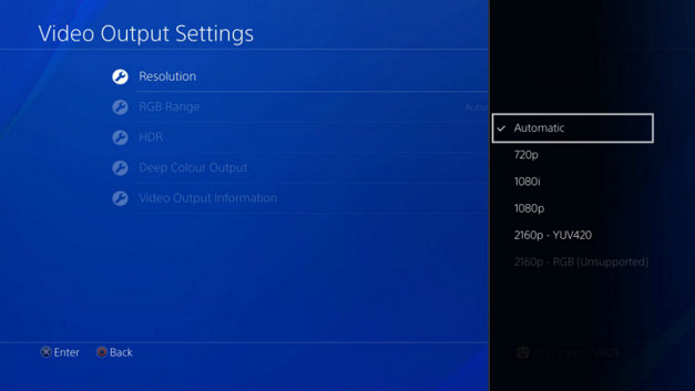 PS4 Pro Support 4K MP4 video files in Media Player app