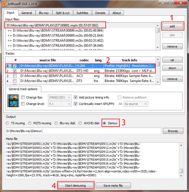 free remux Blu-ray to MKV step 2