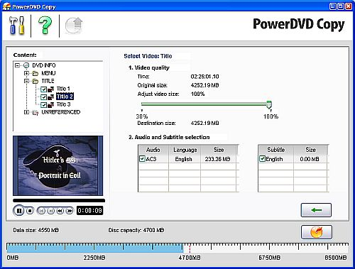 copy dvd with powerdvd copy