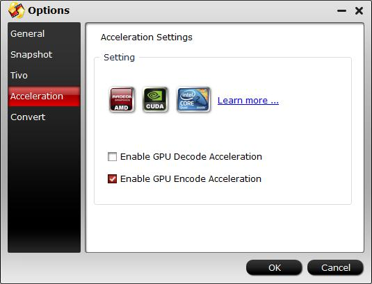 Enable GPU encoding acceleration