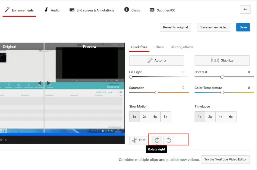 Various ways to rotate youtube video rotate video on youtube ccuart Image collections