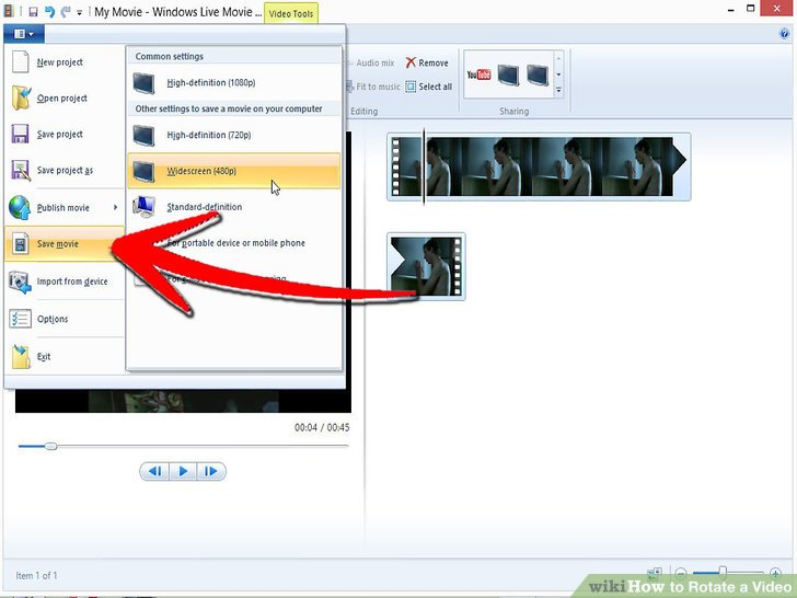 Various ways to rotate youtube video rotate video with windows movie maker ccuart Images