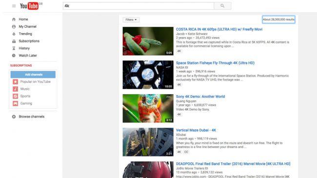 get 4k on youtube