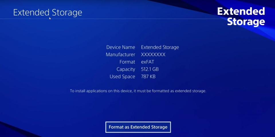 external hard drive to ps4 pro