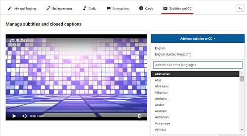 How to add subtitles to youtube videos hit upload a file and click browse to choose your downloaded subtitle file t a txt etc if you are uploading a transcript with no time ccuart Gallery