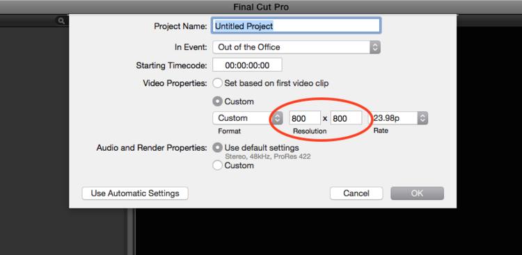 How to Export a Video from Final Cut Pro for instagram
