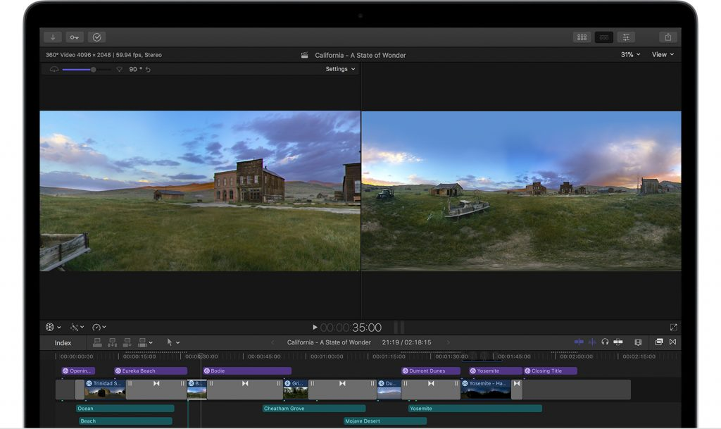 vr video to fcp x