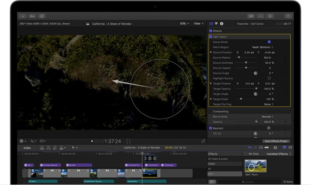 edit vr video in fcp x