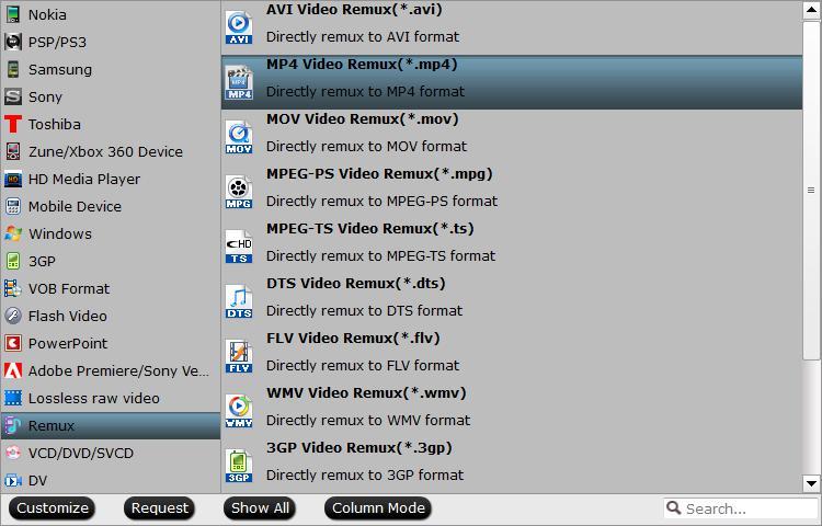 Remux MKV to MP4 format